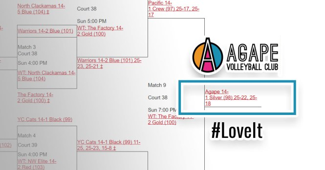 Agape 14-1 Win Comet Bracket