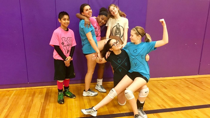 Agape 14-1 Silver team having fun at the last practice before Regionals