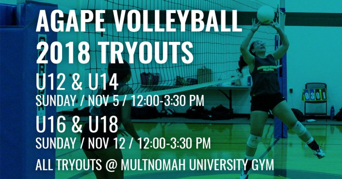 Agape Volleyball Tryouts